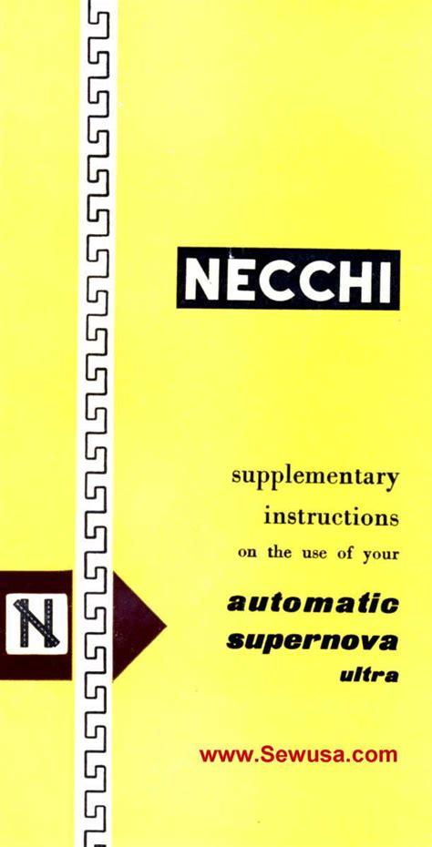 Necchi Supernova Ultra Manual