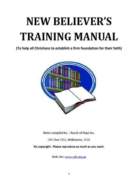 New Believers Training Manual