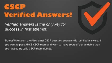 New CSCP Test Dumps