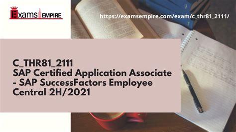 New C_THR81_2105 Exam Pdf