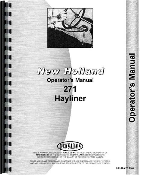 New Holland 271 Baler Repair Manual
