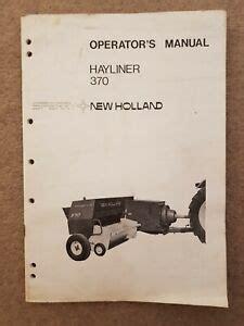 New Holland 370 Baler Manual
