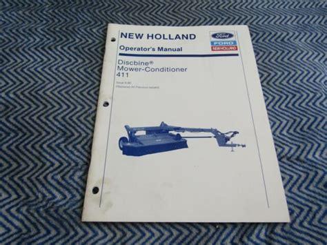 New Holland 411 Discbine Manual