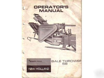 New Holland 58 Thrower Manual