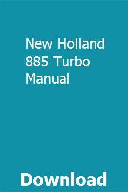New Holland 885 Turbo Manual