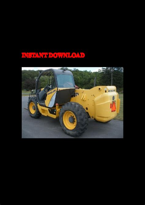 New Holland Lm1060 Telescopic Handler Service Parts Catalogue Manual
