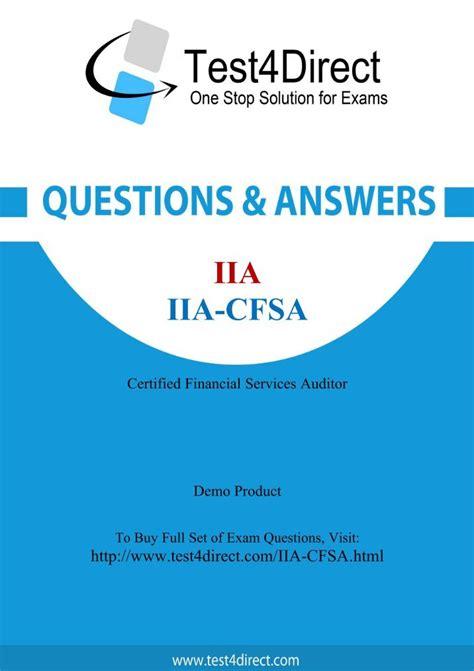 New IIA-CFSA-INS Exam Cram