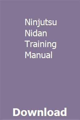 Nidan Training Manual