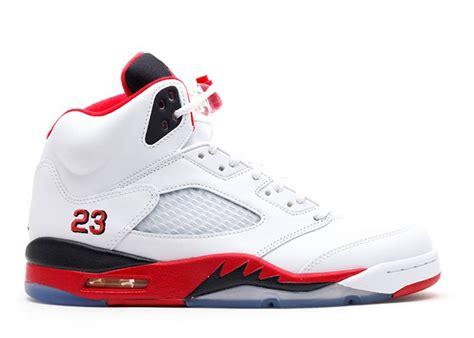Nike Air Jordan 5 V Mens Shoes White Red Online Cheap P 5872