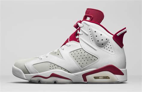 Nike Air Jordan 6 Vi Retro Mens Shoes White Red Discount P 5878