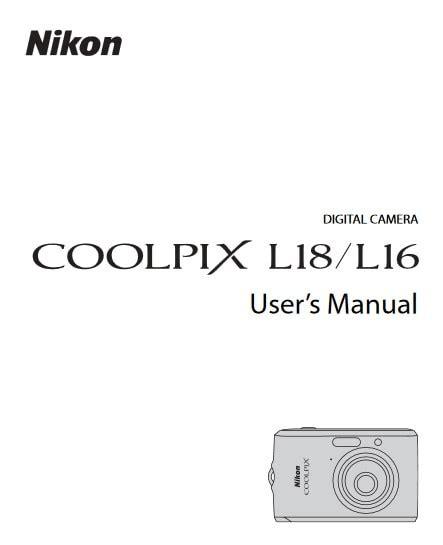 Nikon Coolpix L18 Manual