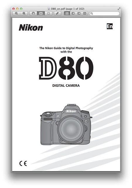 Nikon D80 User Manual
