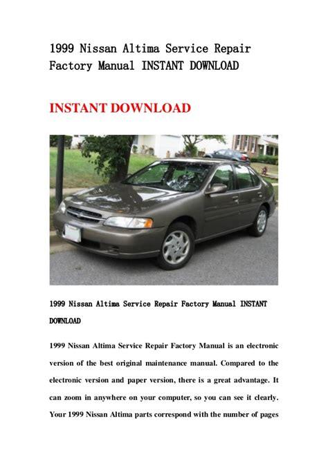 Nissan Altima Full Service Repair Manual 1999