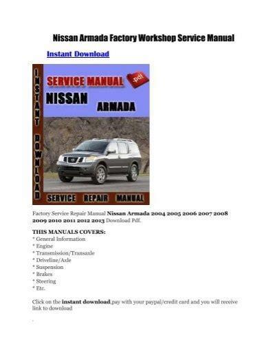Nissan Armada Factory Service Manual