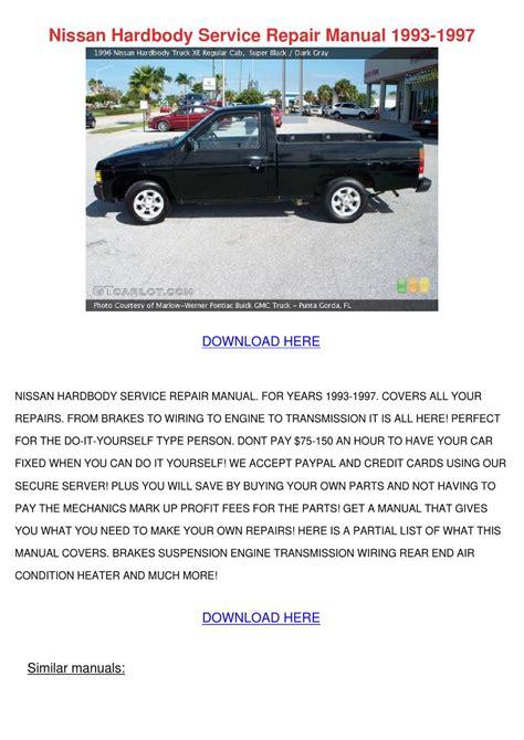 Nissan Hardbody Workshop Manuals