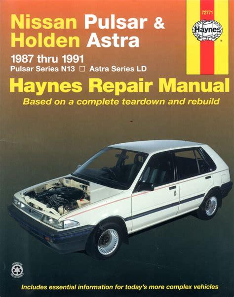 Nissan Pulsar 1987 Service Repair Manual