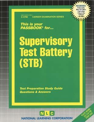 Nj Supervisory Test Battery Study Guide