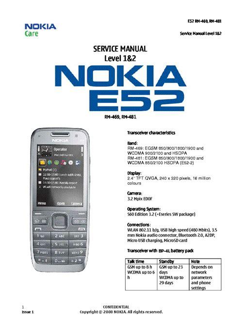 Nokia E52 Service Manual Level 1 And 2