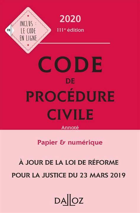 Nouveau code de procédure civile : Et code de procédure civile (Codes Dalloz)