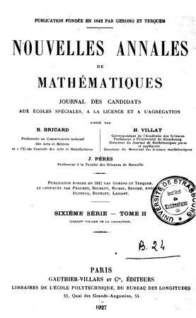 Nouvelles Annales De Mathematiques Journal Des Candidats Aux Ecoles Polytechnique Et Normale Volumes 5 8