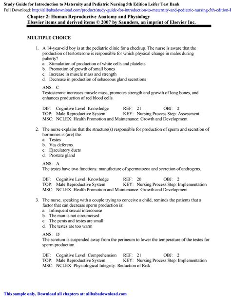 Nursing Bank Tests Study Guide Answers