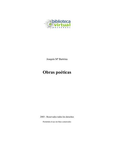 Obras Poeticas Biblioteca Universal