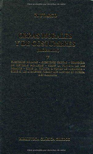 Obras morales y costumbres v: Cuestiones romanas. Cuestiones griegas (B. CLÁSICA GREDOS)