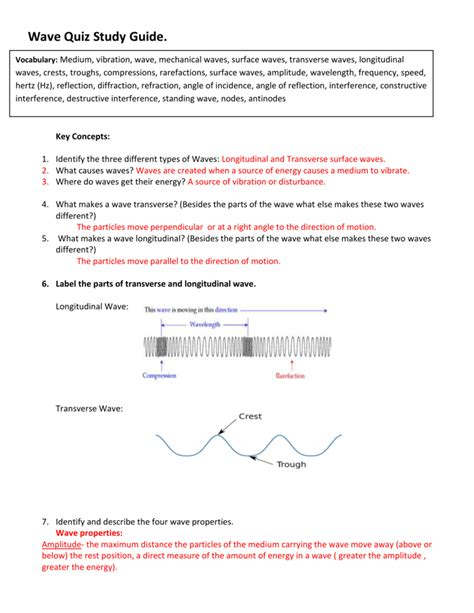Ocean Motion Study Guide Answers Tennessee Science