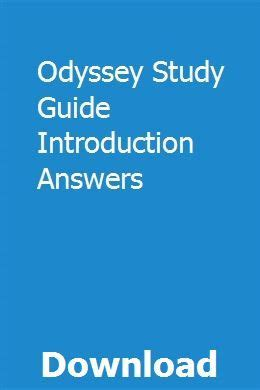Odyssey Study Guide Introduction Answers