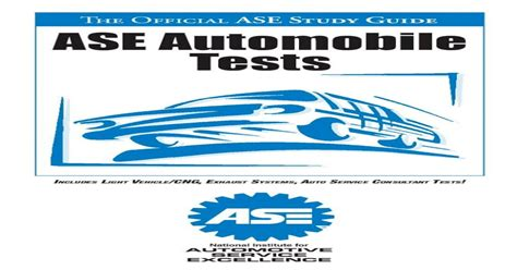 Official Ase Study Guide Ase Automobile Tests
