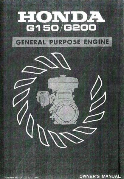Official Honda G150 G200 Engine Shop Manual