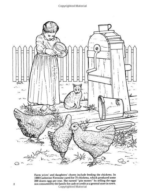 Old Fashioned Farm Life Coloring Book