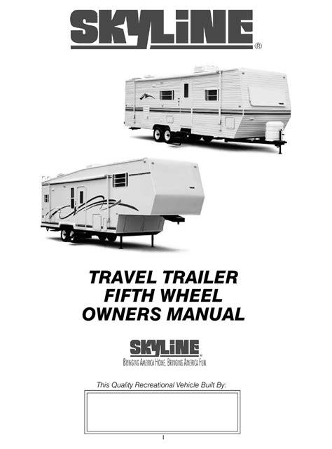 Old Travel Trailer Owner Manual