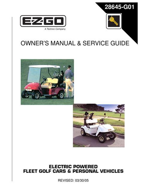 Older Ezgo Golf Cart Manuals