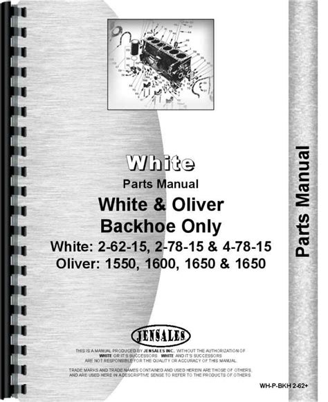 Oliver 1550 Backhoe Attachment Manual