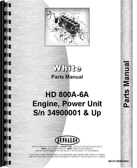 Oliver Hd 800a6a Power Unit Parts Manual