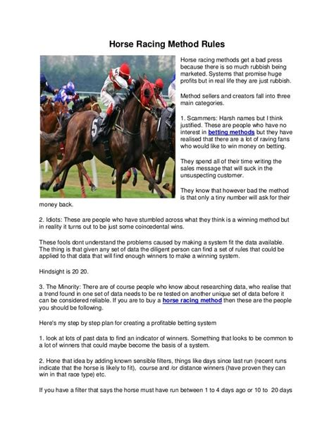 On The Laws And Practice Of Horse Racing