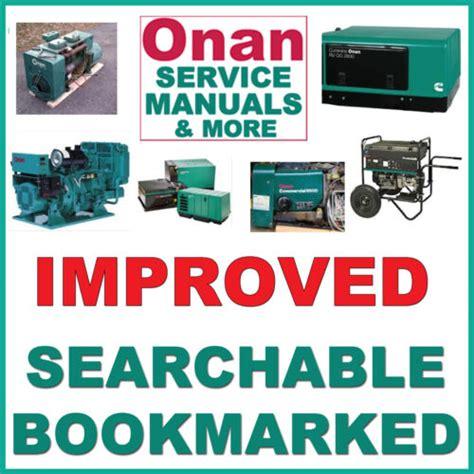 Onan Bgm Service Repair Parts Installation Operators Manual 7 Manual