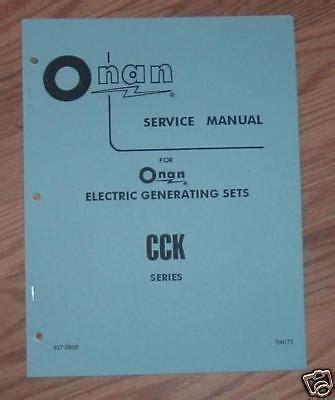 Onan Cck Repair Manual
