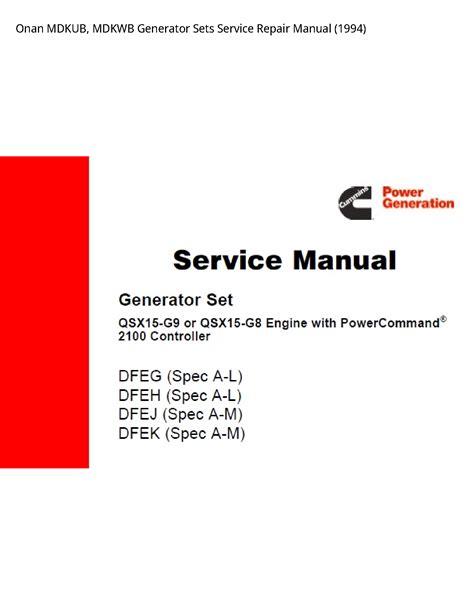 Onan Mdkub Service Manual