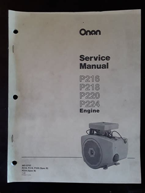 Onan Service Manual For Steiner 220 Mower