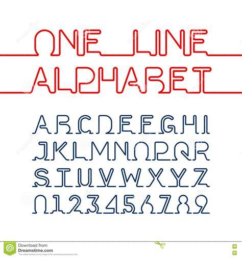 One line alphabet