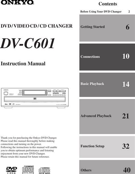 Onkyo 601 Manual