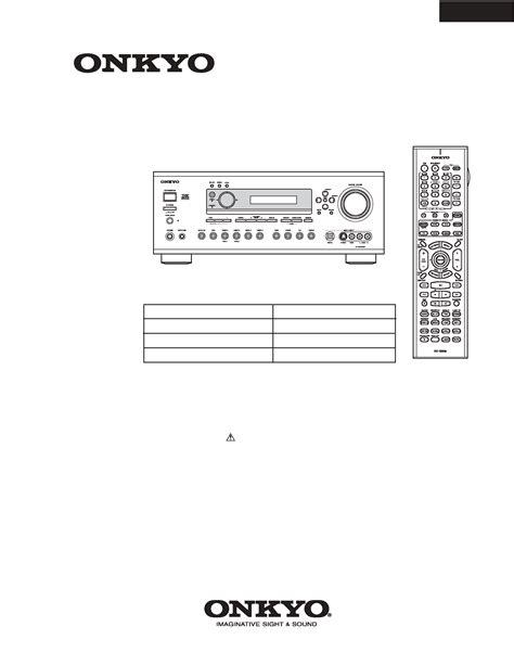 Onkyo Tx Sr702 Sr702e Service Manual And Repair Guide