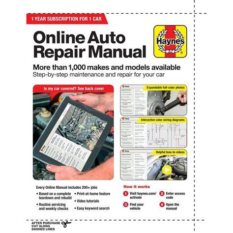 Online Auto Shop Manuals