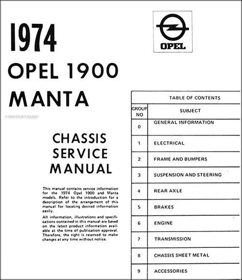 Opel Shop Manual