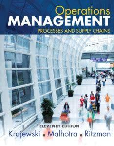 Operations Management Lee J Krajewski Solution Manual