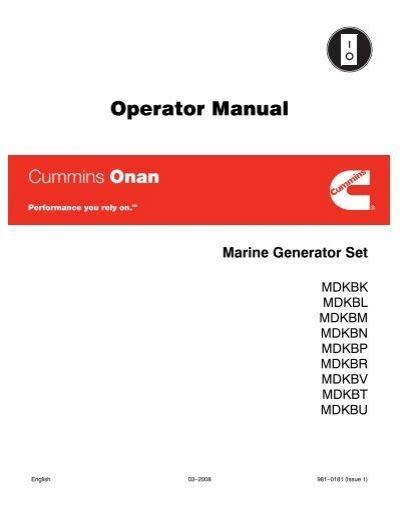 Operator Manual Cummins