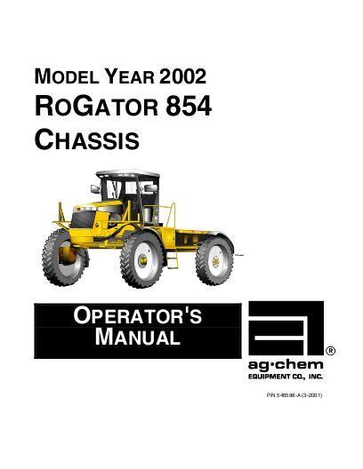 Operators Manual For Rogator 854