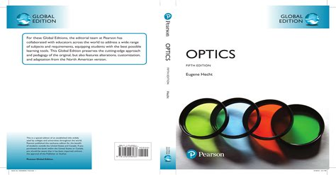 Optics Hecht 4th Edition Solution Manual